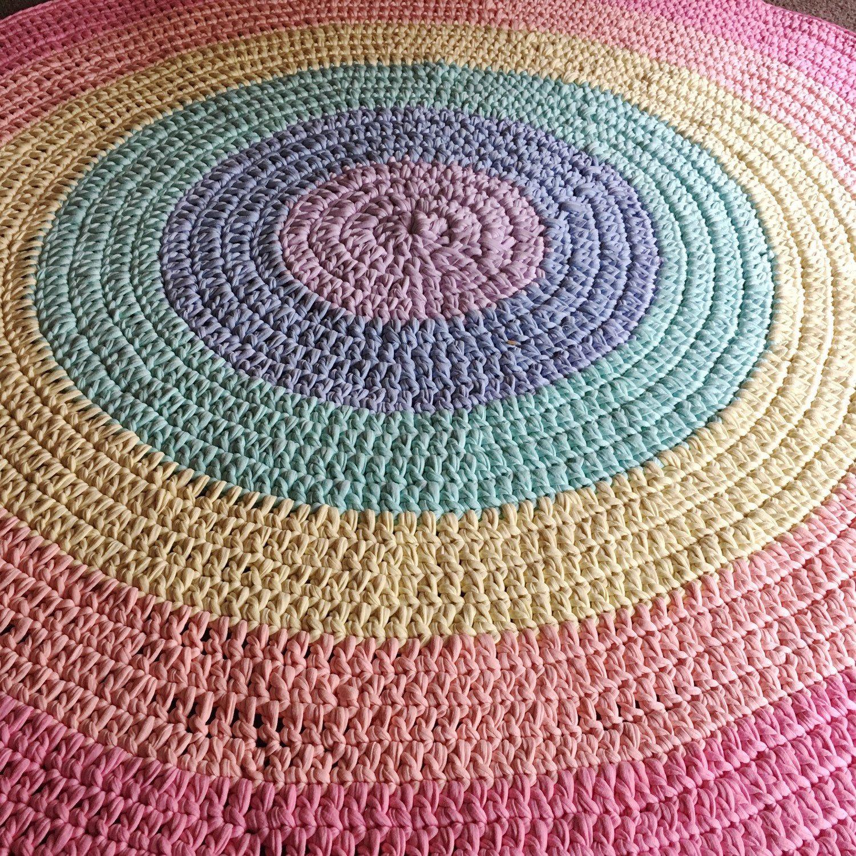 Rainbow Pastel Floor Rug