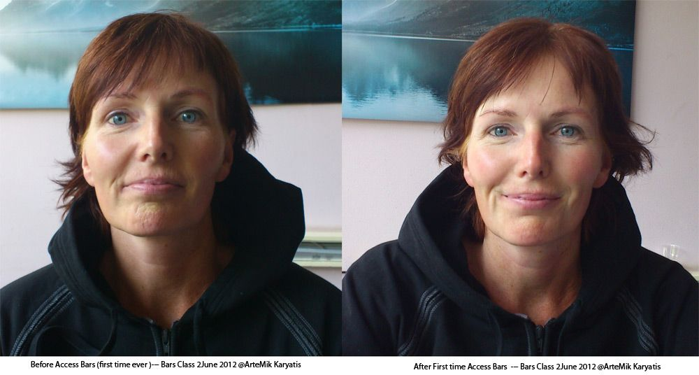 Before and After result @ #Bars Class 2012 in #Leeuwarden, #Netherlands by Mik Bijleveld,  #Access #Bars #Facilitator