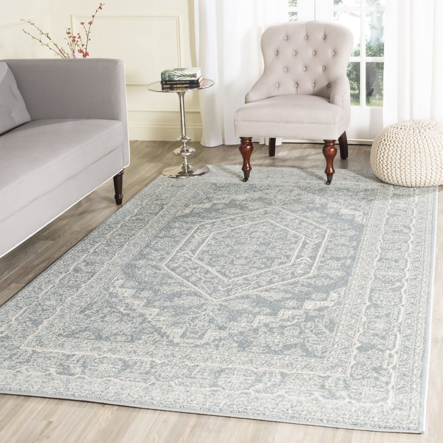 Amazon Safavieh Adirondack Collection ADR108A Silver And Black Oriental Vintage Area Rug