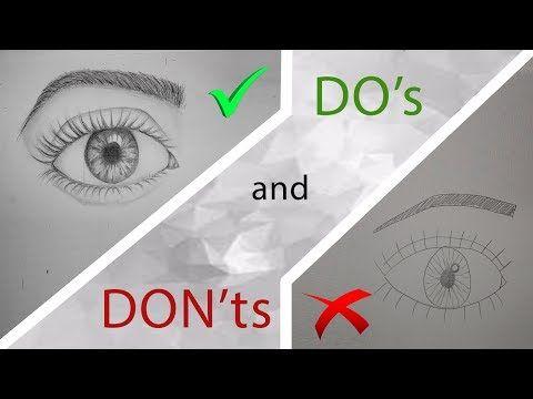 DO's and DON'ts - AUGEN zeichnen Schritt für Schritt (für ...