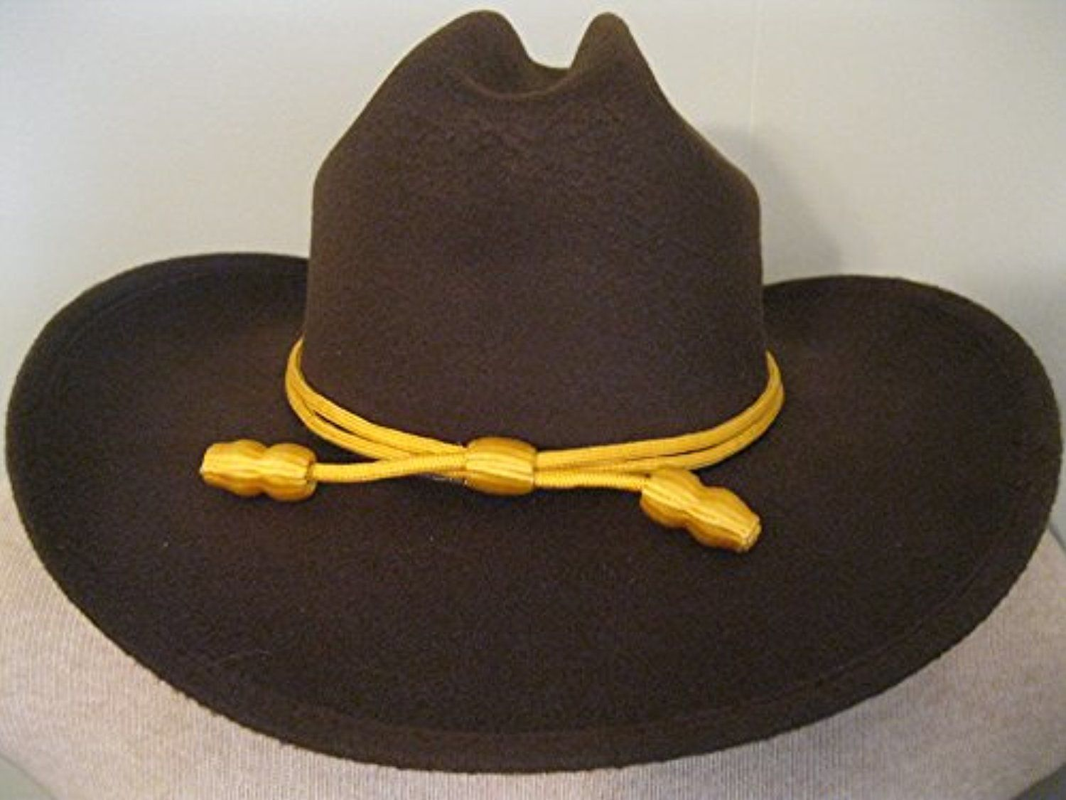 Western Cowboy Hat Cattlemans With Cavalry Band Brown Small