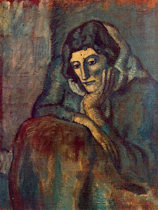 Pablo Picasso- Woman in blue, 1902