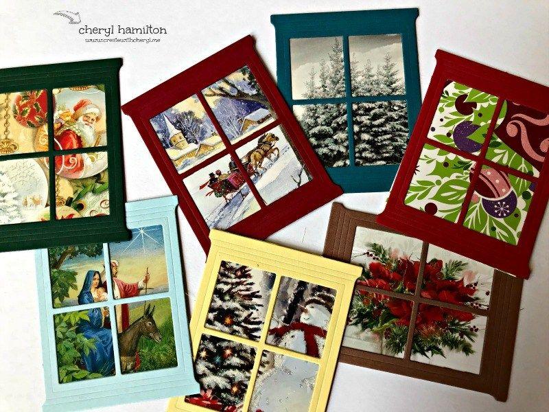 SSINK Window Cards- Recycling! - Create With Cheryl - Cheryl Hamilton