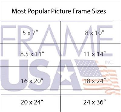 Picture Frame Sizes Most Popular Picture Frame Sizes Frame Sizes Big Picture Frames