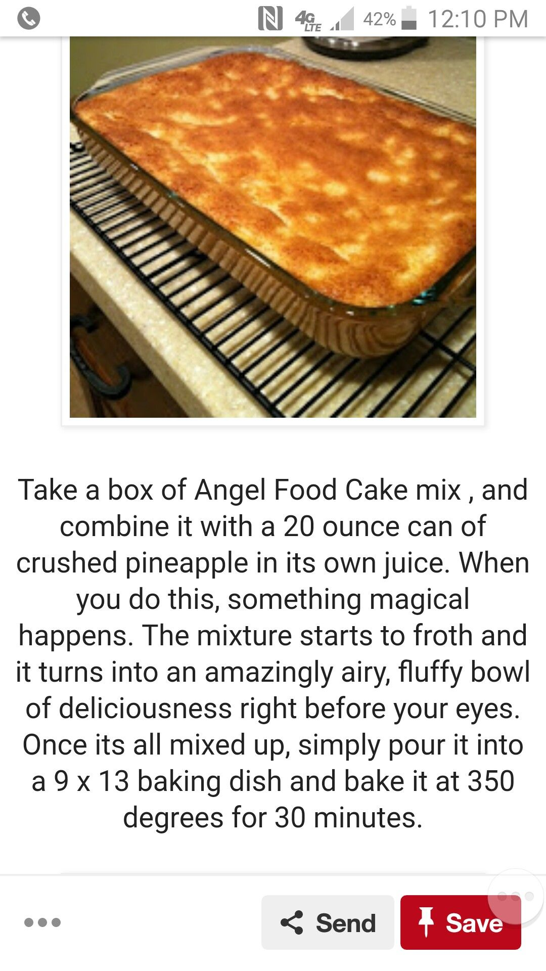 Easy low carb angel foodpineapple cake dessert for