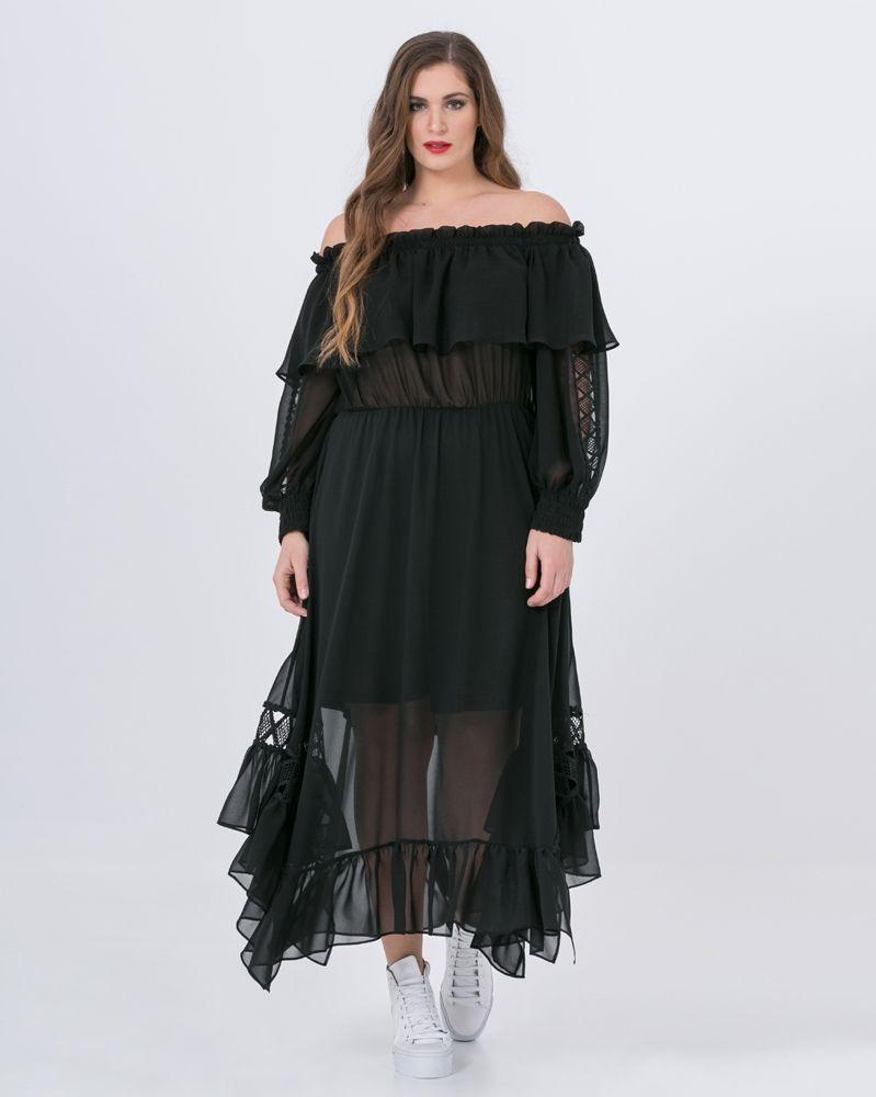 4c0c4f518a43 Τουνίκ μουσελίνα με δαντέλα — mat. XXL sizes — Γυναικεία Ρούχα ...
