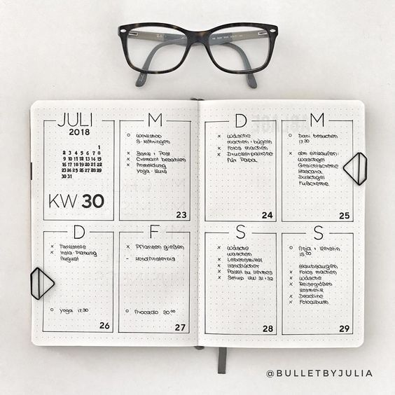 Photo of 10 Minimalist Bullet Journal Weekly Spread And Layout Ideas
