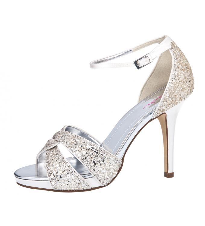 charlotte silver glitter rainbow club weddingdress pinterest brautschuhe schuhe und. Black Bedroom Furniture Sets. Home Design Ideas