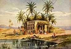 Postales antiguas de Egipto: Las Fuentes de Moises, cerca de Suez