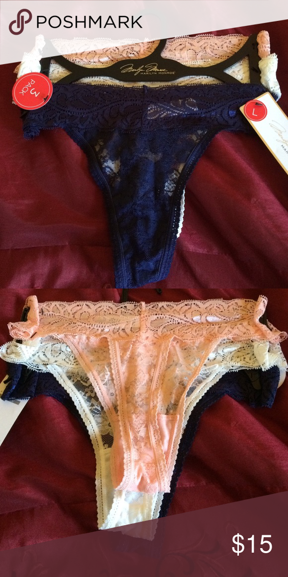 a317a2f01 Marilyn Monroe Lace Thong Sexy 3 pack Marilyn Monroe lace thong. Size  large. Pink
