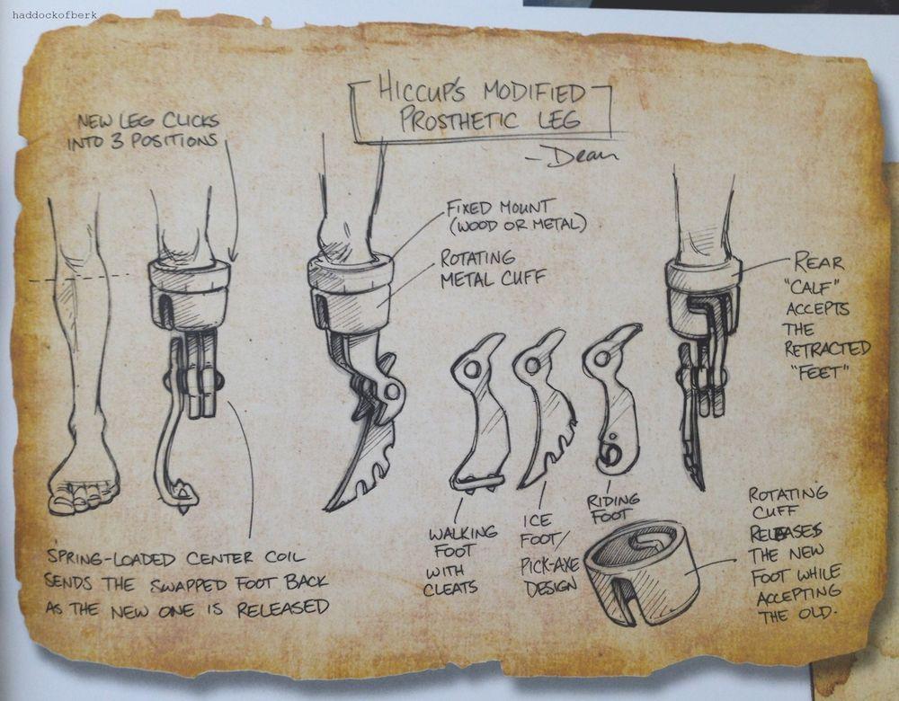 Hiccups prosthetic leg prosthetic leg dragons and legs hiccups prosthetic leg how to train your dragon wiki ccuart Images