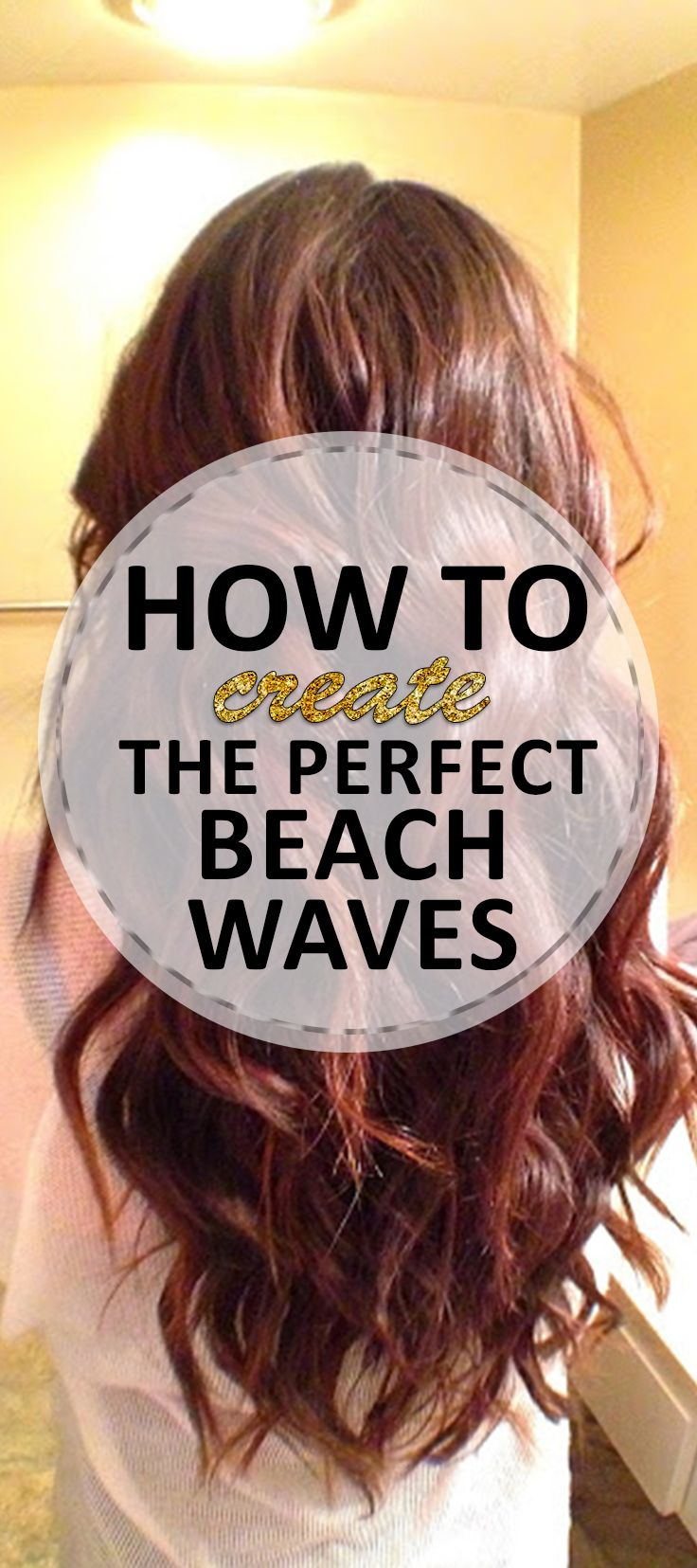 How to style your hair into the perfect beach waves! Easy technique, perfect waves.
