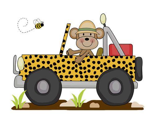 30+ Jungle Animals Bus Clipart