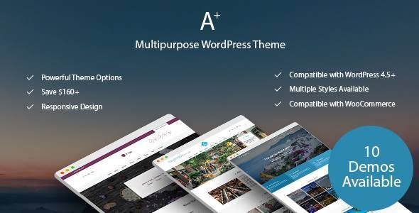 A+ | Multipurpose WordPress Theme