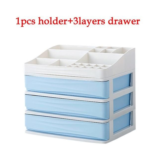 ef72e710f4b4 JULY'S SONG Plastic Cosmetic Drawer Makeup Organizer Makeup Storage ...