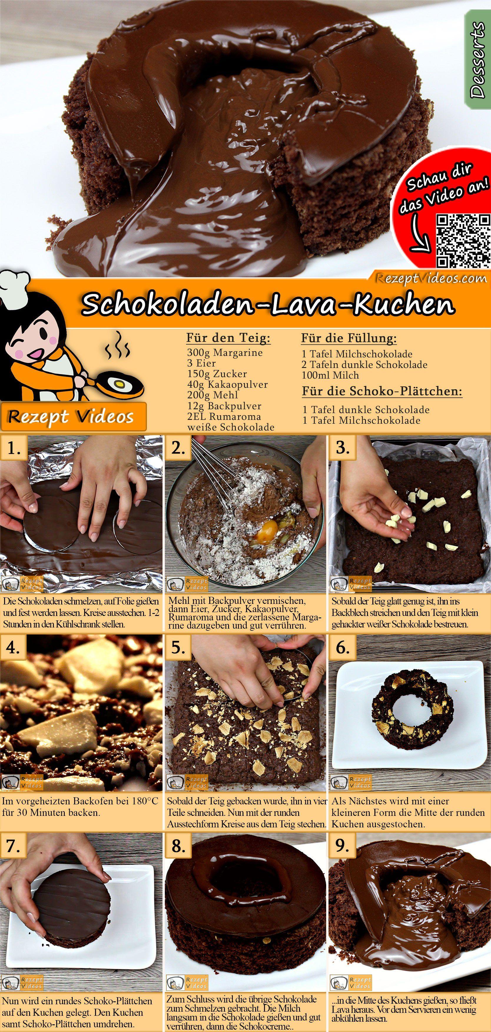 Schokoladen-Lava-Kuchen Rezept mit Video - Kuchenrezept/ Backrezepte