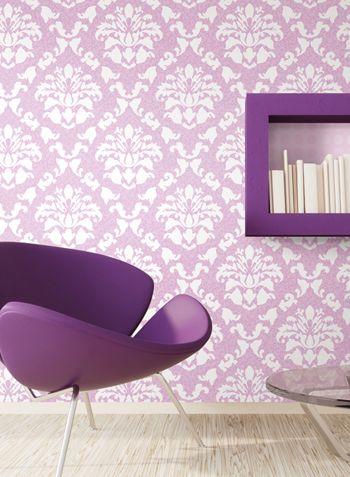 Galeria Zdjec Pokoj Dziecka Tapety Beautiful Home Tapety Scienne Naklejki Na Sciane Paski Dekoracyjne Pink Room Room Interior White Damask