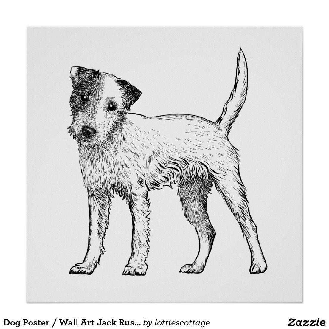 Dog Poster Wall Art Jack Russell Terrier