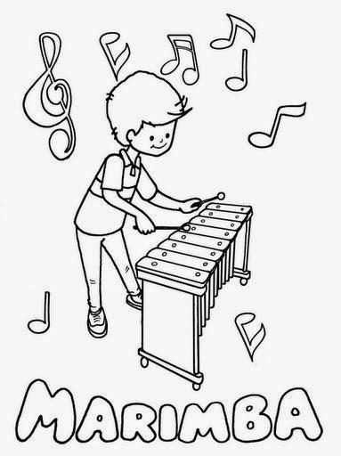 Dibujos Para Colorear Maestra De Infantil Y Primaria Instrument Instrumentos De Percusion Dibujos De Instrumentos Musicales Actividades De Educacion Musical