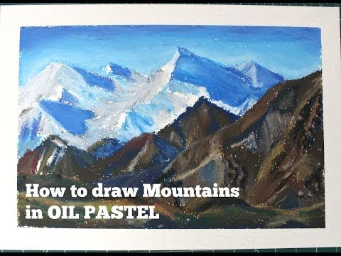 Oil Pastel Tutorial How To Draw A Mountain Landscape Saminspire Youtube Oil Pastel Mountain Landscape Mountain Drawing