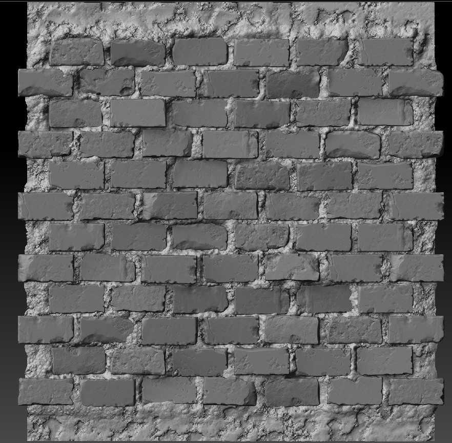 Sculpting A Brick Wall Texture The Classical Way Brick Wall Brick Zbrush
