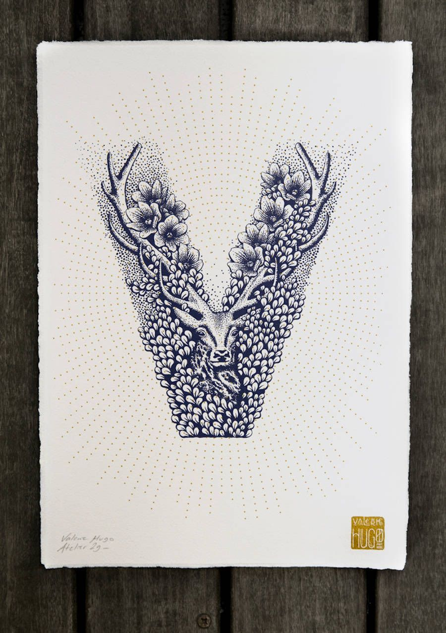 The Illustrated Alphabet by Valérie Hugo | Caligrafía, Letras y Litera
