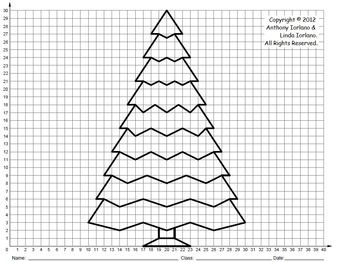 Christmas Tree Middle School Coordinate Drawing Graph Graphing Project Mystery Picture Graph Coordinate Graphing