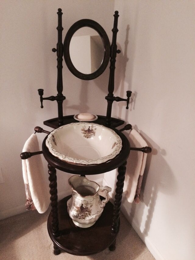 Antique Wash Basin Stand With Ironstone Pitcher And Basin Do You
