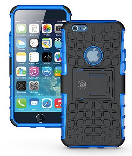 553b95ef98ae Tough Armorbox Dual Layer Hybrid Hard Soft Protective Blue Armor iPhone 6  Plus Case Cable And Case on Amazon- Lots of colors to choose from.