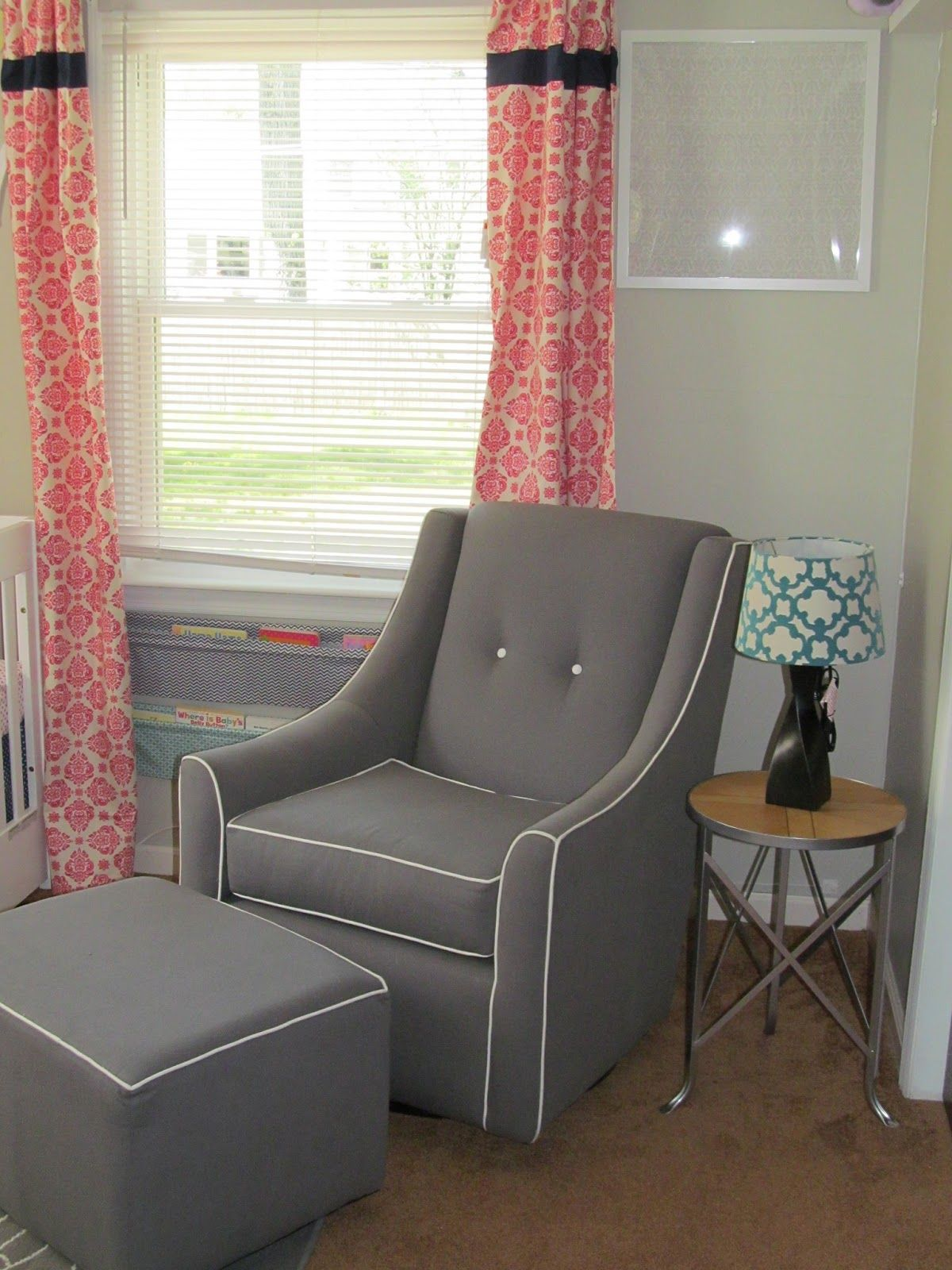 little castle savvy glider and ottoman in grey | nursery coming to