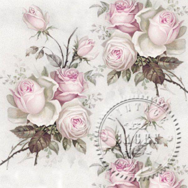 Servítka Romantické ruže