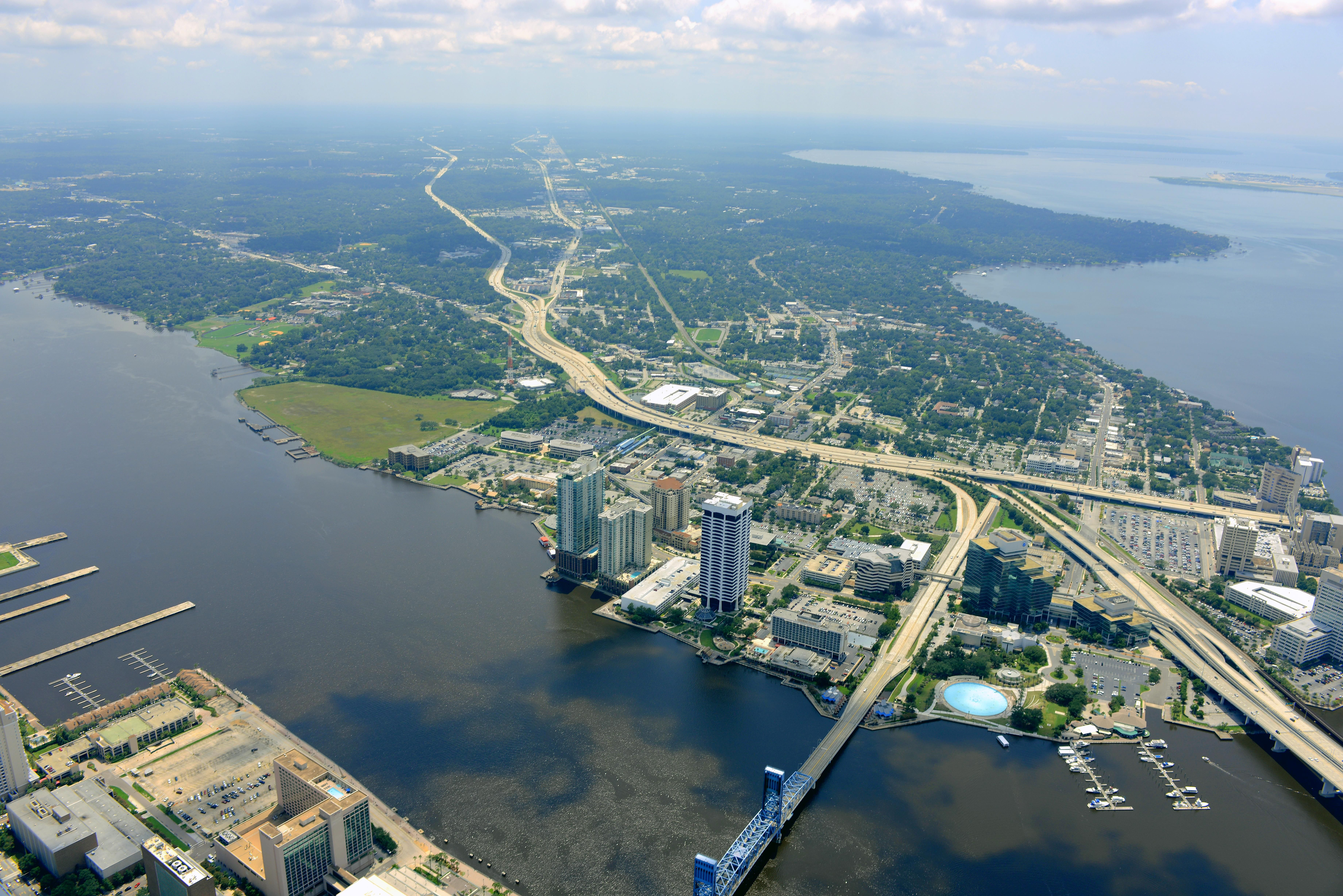 Another view of down town Jacksonville, FL | Aerial ...  |Jacksonville Florida Photography