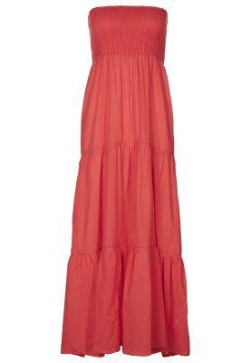 oranje maxi jurk