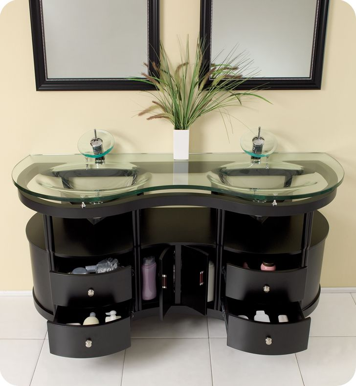 Fresca Unico Espresso Modern Bathroom Vanity With Mirrors Http Extraordinary B And Q Bathroom Design Decorating Design