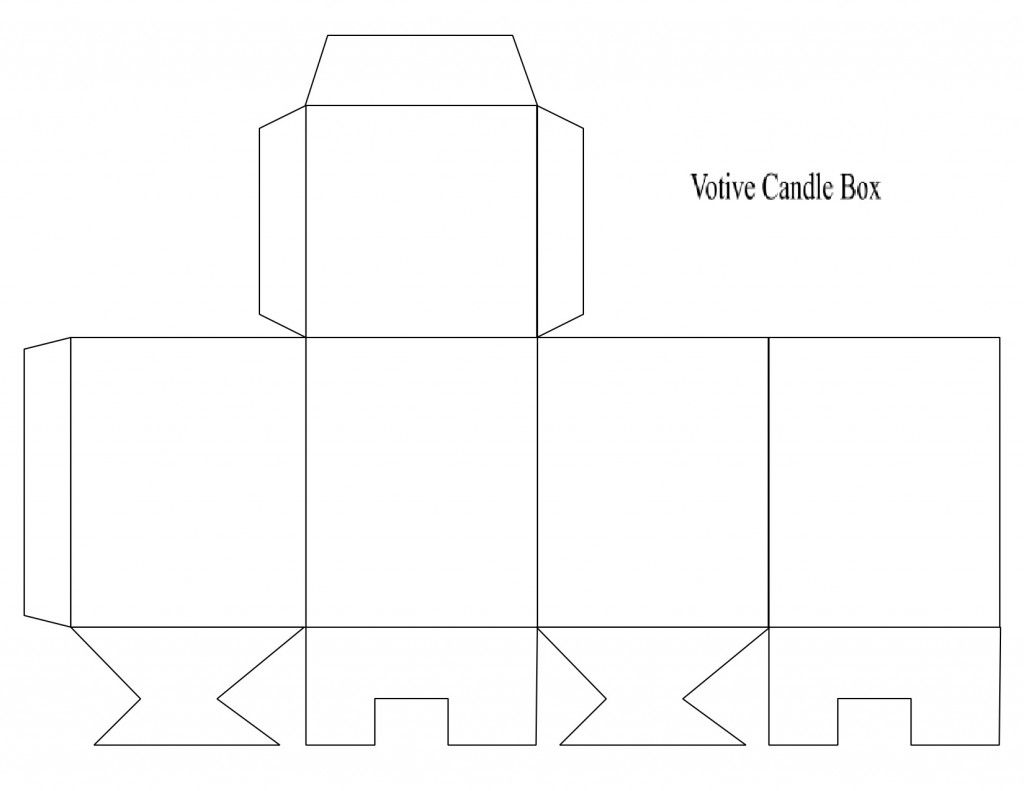 Box Template Votive Candle Arts And Crafts