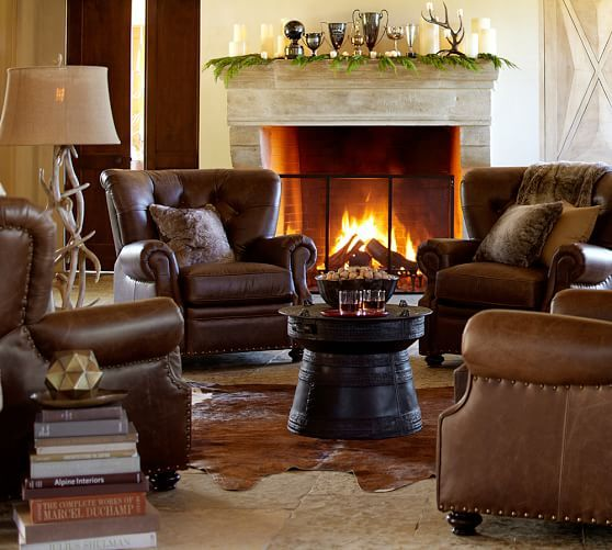 Lansing Leather Recliner Pottery Barn Love This Arrangement 4
