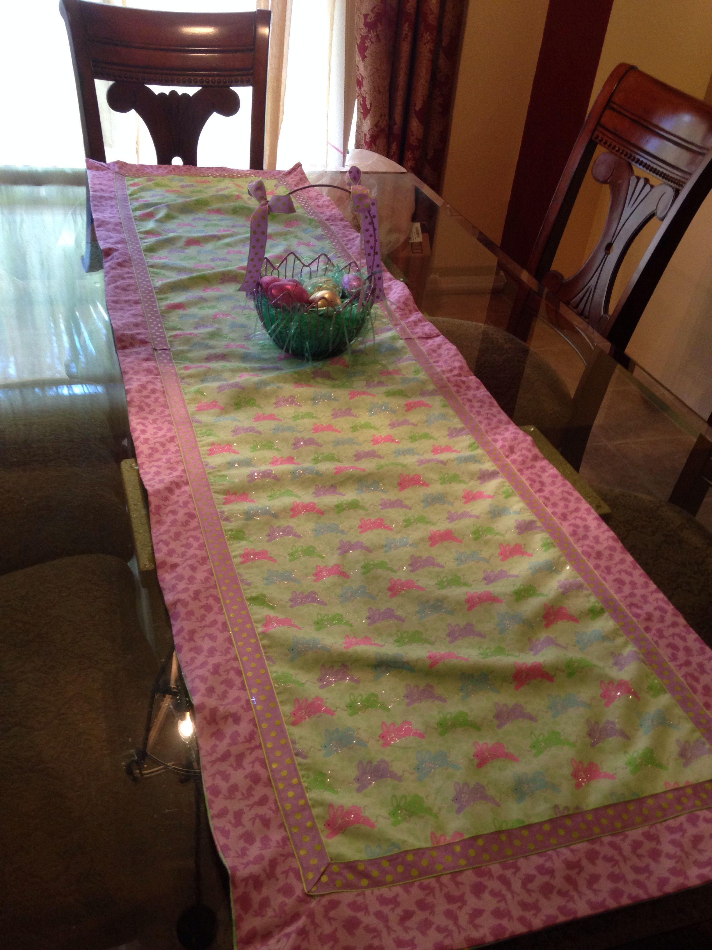 Easter bunny table runner