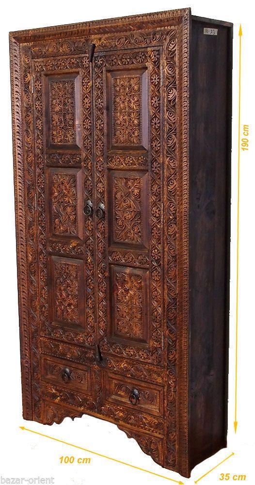 antik-look wohnwand orient Massiv Schrank Kommode Regal Afghan ...