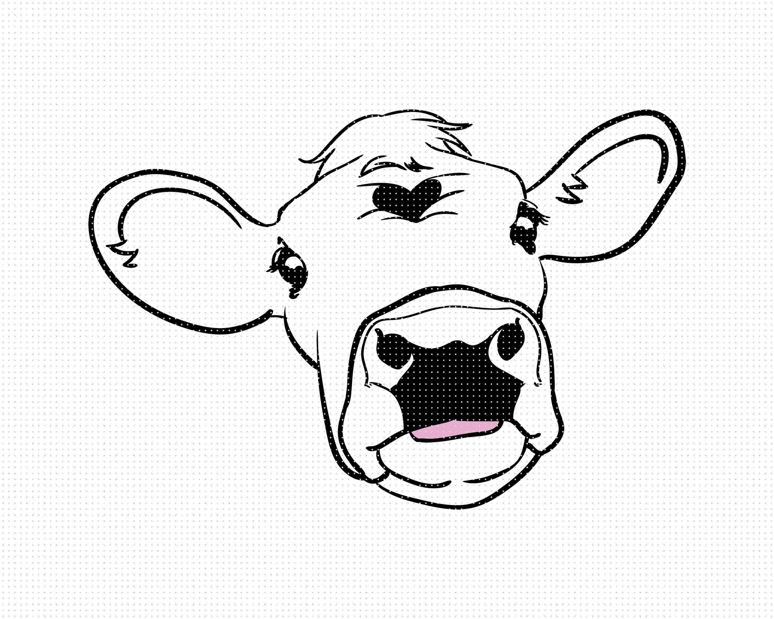 48++ Cute cow head clipart information