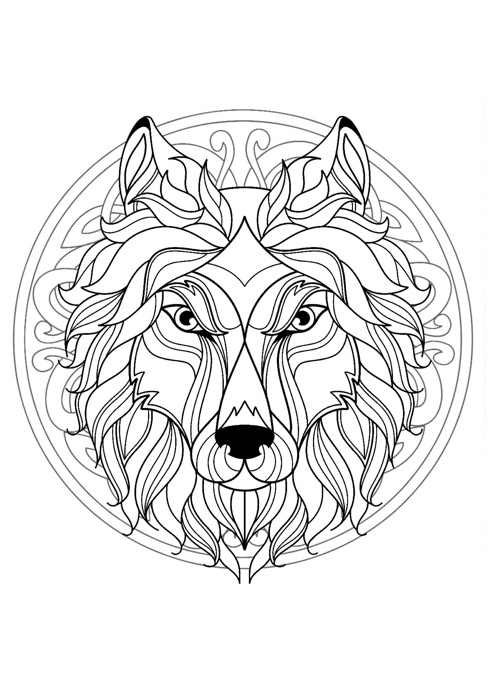 Einzigartig Coloriages Mandalas Gratuits Farbung Malvorlagen Malvorlagenkostenlos Lowen Malvorlagen Mandala Malvorlagen Tiere Geometrische Malvorlagen