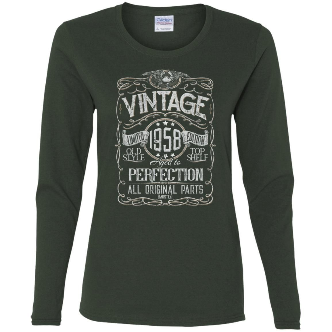 Vintage Aged To Perfection 1958 - 60th Birthday Gift T-shirt
