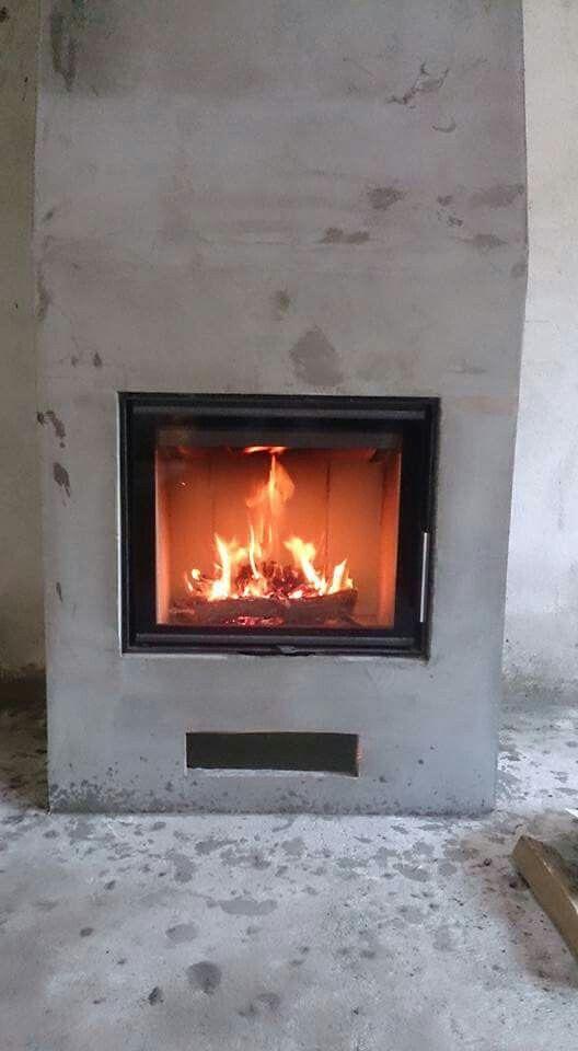 ROMOTOP HEAT 2g 59.50.01 в тёплой облицовке из Supertermik.  #ромотоп #ромотопукраина #камин #каминнаятопка #отоплениекамином #отоплениебезгаза #romotop #romotopukraine #insert #fireplace