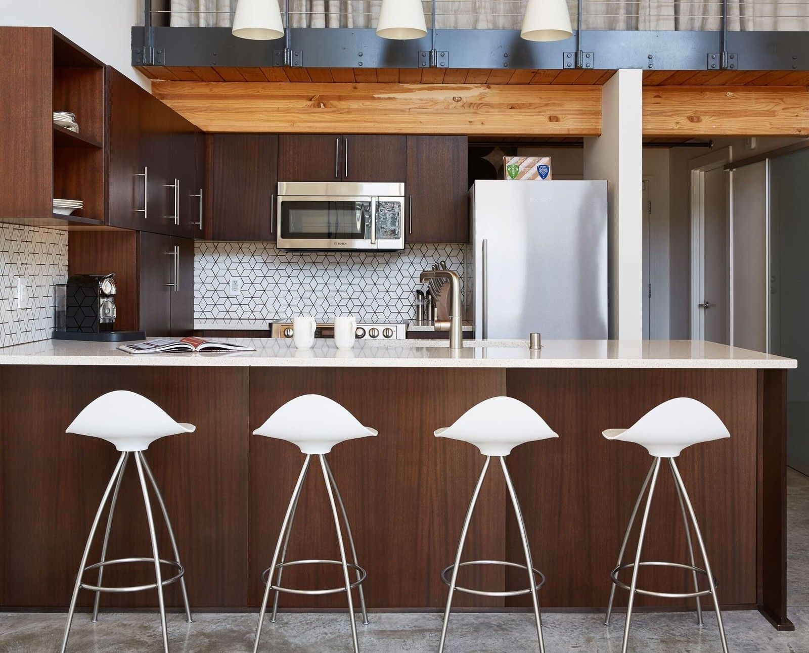 Spotted On Dwell An Industrial Loft In Seattle Refurbished By Joy Rondello With STUA Onda Stools
