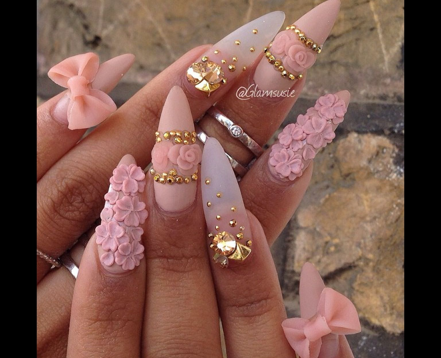 Girly and dainty | Nail design | Pinterest | Girly, Nail inspo and ...