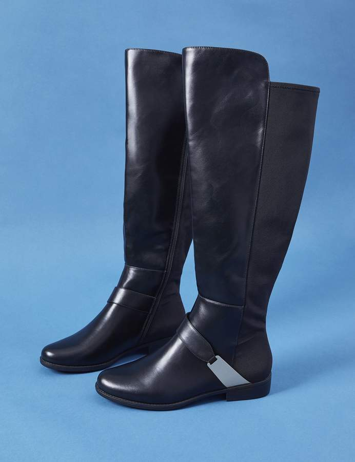 Over-the-Knee Boot with Metal Harness