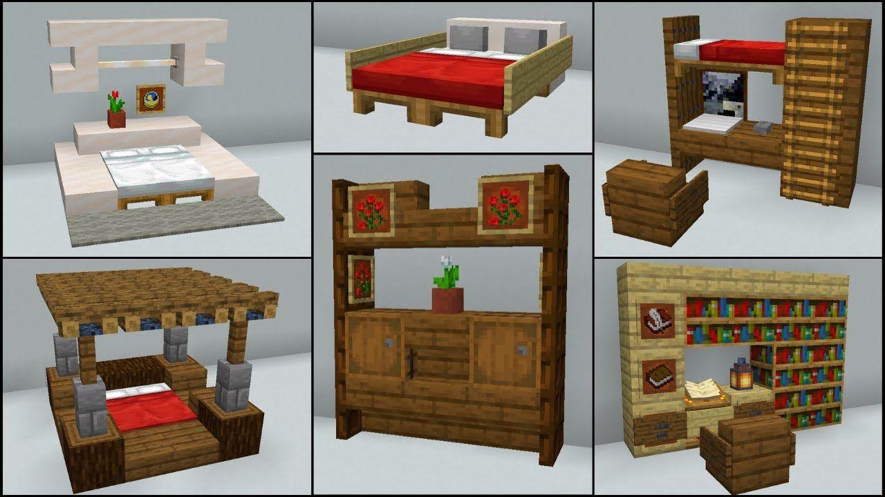 Minecraft: 40+ Bedroom Build Hacks and Ideas - YouTube ...