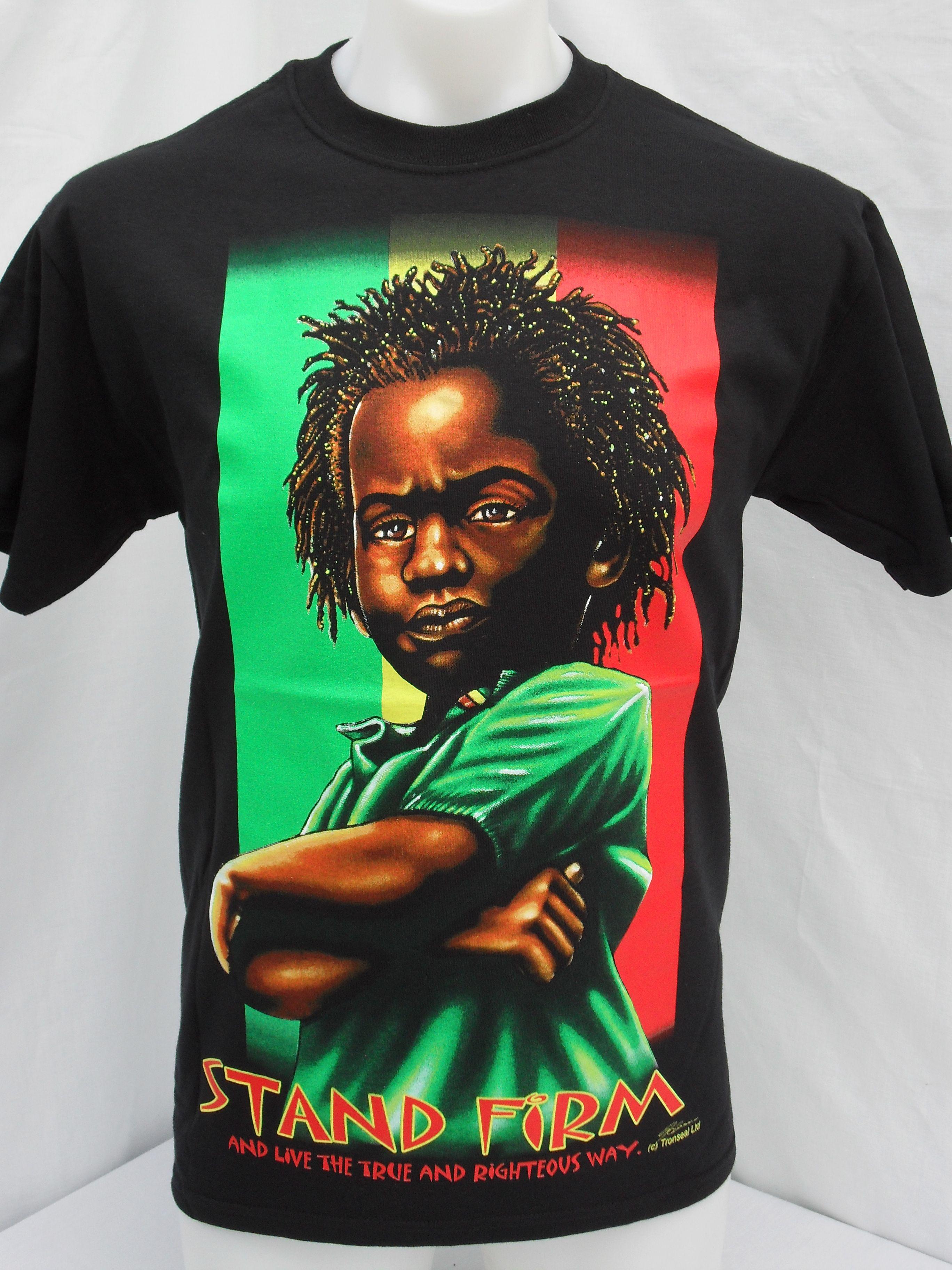 c380d6ed76 Stand Firm T-Shirt | Rasta T-Shirts | Rasta t shirts, T shirt, Shirts