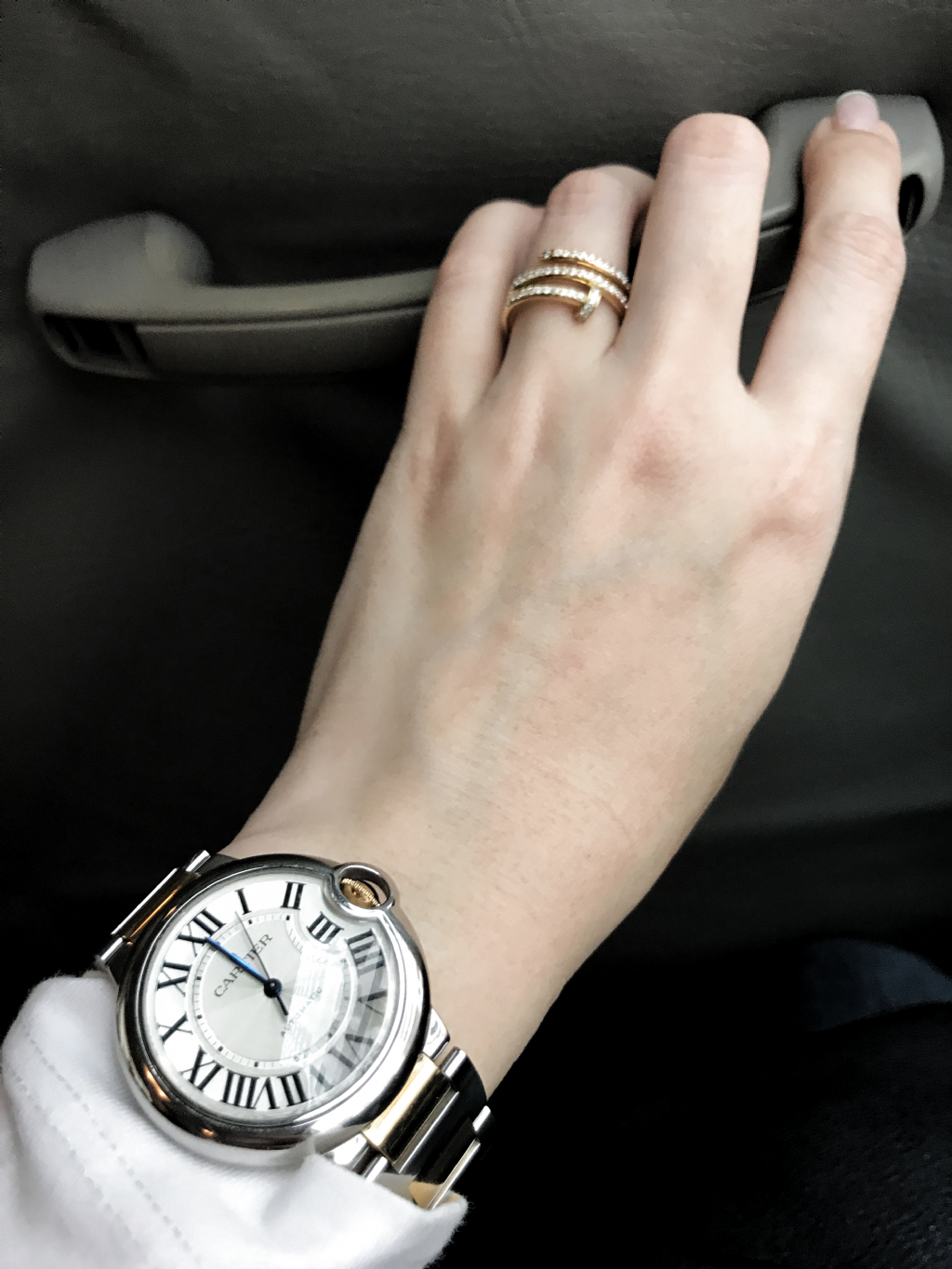 Cartier Two Tone Balloon Watch And Cartier Diamond Ring In 2020 Cartier Watches Women Womens Watches Luxury Womens Watches