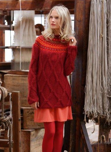 Mag. 171 - n ° 12 Patrones suéter yugo Jacquard | mis tejidos ...