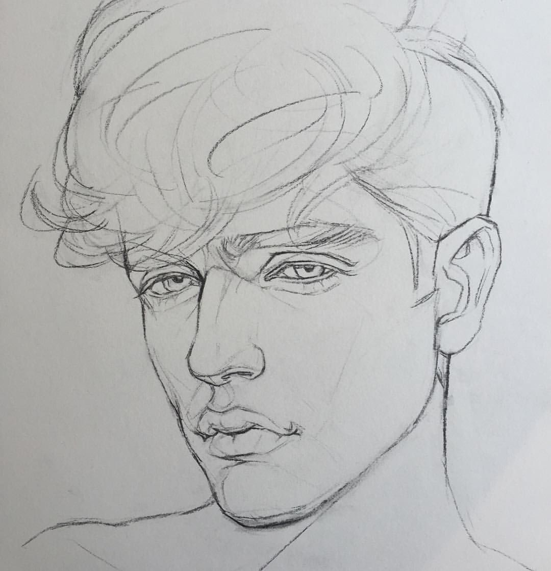 Image Result For Drawings Of People Gestural Face A Level Ideas In